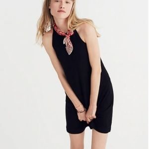 """Ribbed racerback Madewell """"District Dress in black"""